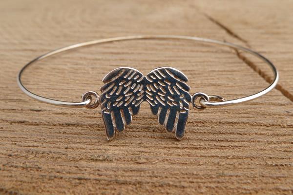 Door Roos armbandje sterling silver vleugel