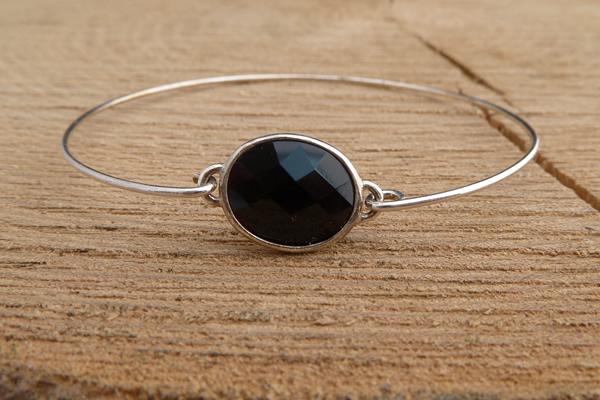 Door Roos armbandje sterling silver zwart