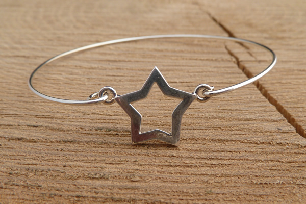 Door Roos armbandje sterling silver ster