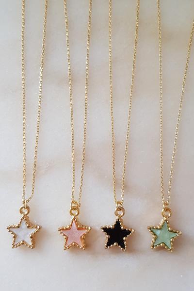 Door Roos ketting gold star
