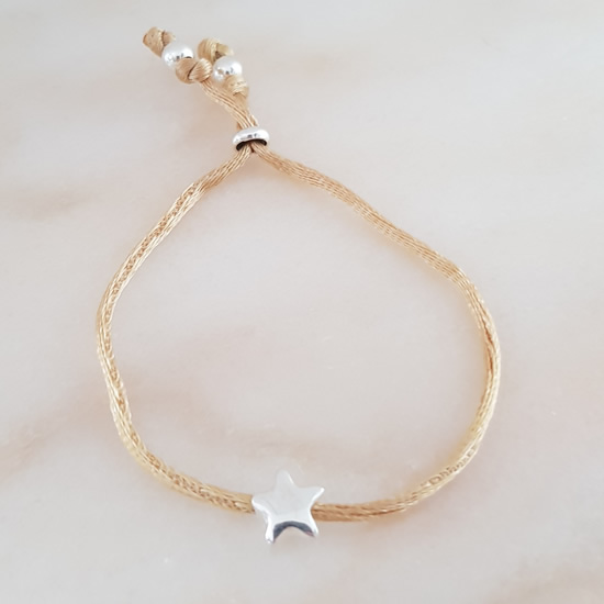 Door Roos armband sterling silver star