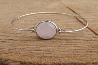 Door Roos armbandje sterling silver roze