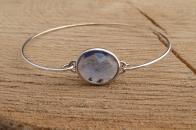 Door Roos armbandje sterling silver paars