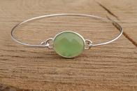 Door Roos armbandje sterling silver groen