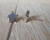 Door Roos sterling silver ster oorstekers
