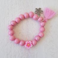 Door Roos kinderarmband flower